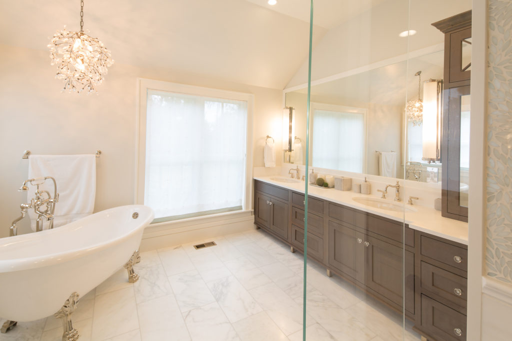 Showplace Cherry Wood Bathroom Cabiets